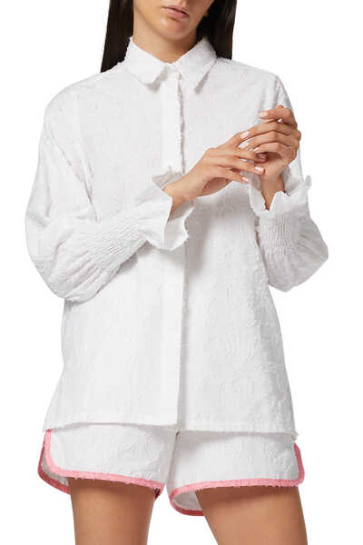 Maya Smocked Sleeve Shirt