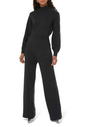 Turtleneck Cashmere Jumpsuit