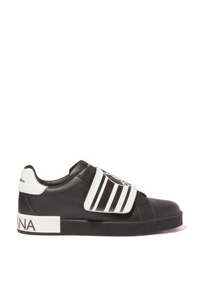 DNA Logo Leather Sneakers