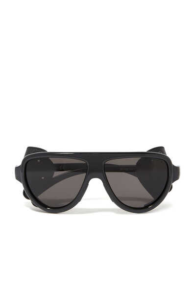 Aviator Sunglasses With Side Leather Protection