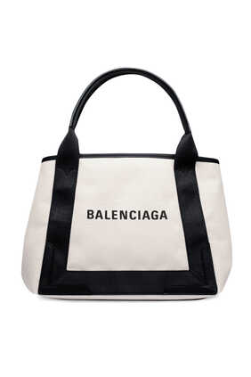 Navy Small Cabas Bag