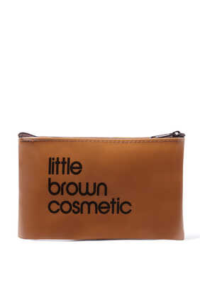 Little Brown Cosmetic Bag