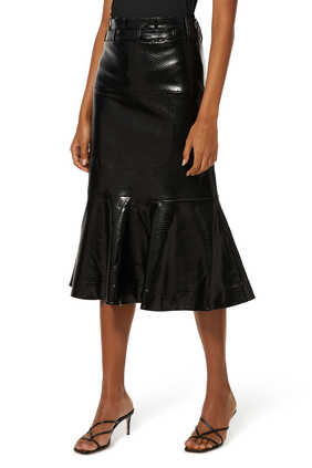 Leuca Faux-Leather Skirt