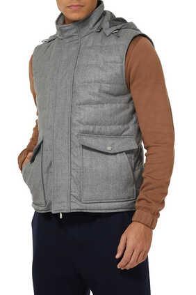 Hooded Wool Vest