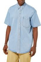 Short Sleeves Denim Shirt