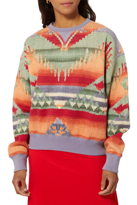 Knit Fleece Sweatshirt