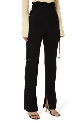 High Waisted Ruched Trousers