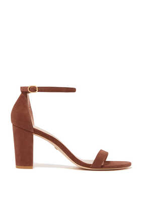 Nearly Nude Suede Chunky Sandals