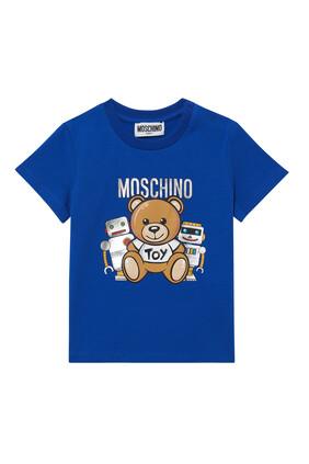 Teddy Bear and Robots T-Shirt