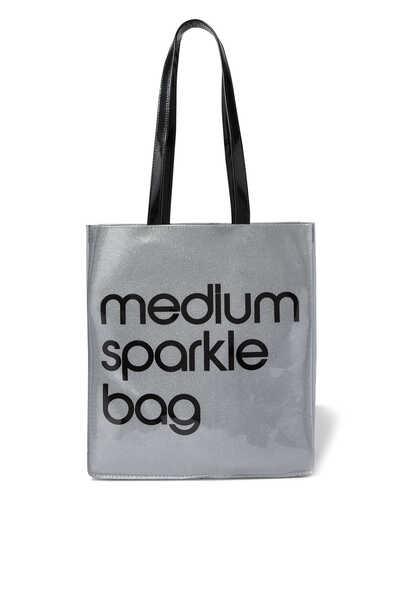 Medium Silver Tote Bag