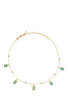 Amazonite Gold Vermeil Lena Choker