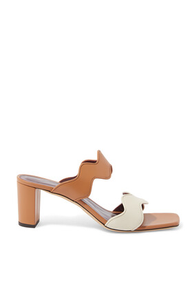 Frankie Wavy Leather Sandals