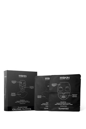 Celestial Black Diamond Mask, Set of 4