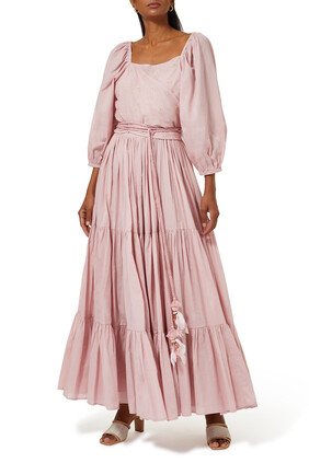Puffy Sleeves Flare Dress