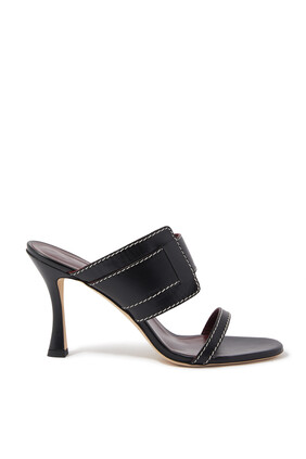 Marie Leather Mules