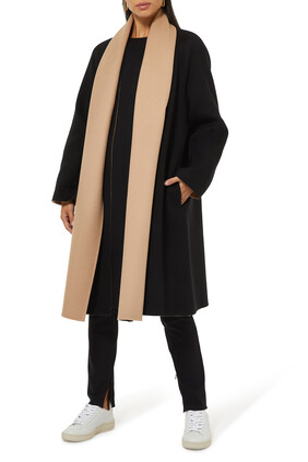 Double-Face Wool-Cashmere Scarf Coat