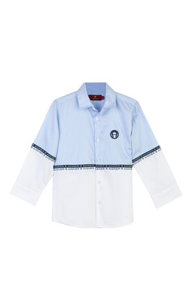 Logo Button Down Shirt