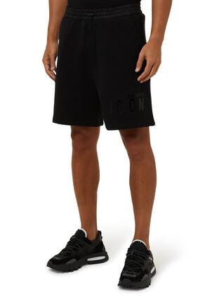 Icon Monotone  Cotton Fleece Shorts