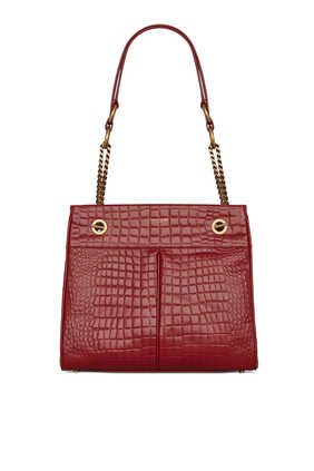 Claude Croc-Embossed Bag