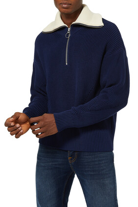 Knitted Zip Sweater