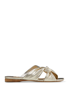 Narisa Metallic Leather Flats