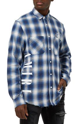 Vertical Logo Plaid Shirt