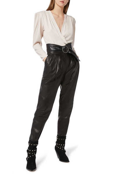 Finio Lambskin Leather Pants