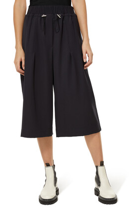 Wool Pull On Culottes
