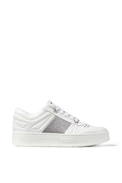 Hawaii/F Leather Lace-Up Sneakers
