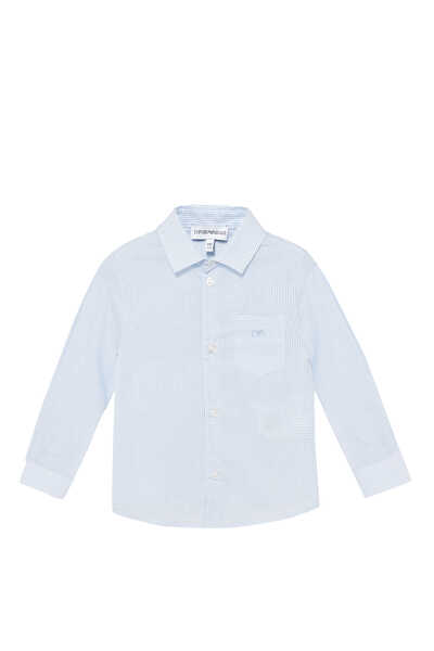 Checked Long-Sleeved Cotton Shirt
