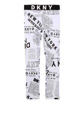 Newspaper Print Leggings