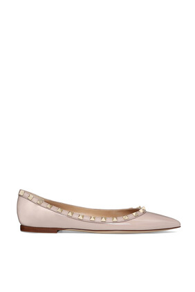 Patent Leather Rockstud Ballerinas
