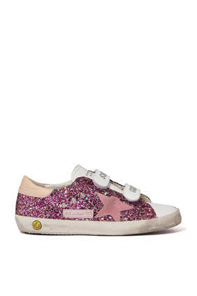 Old School Glitter Leather Sneakers