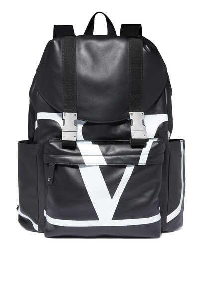 Valentino Garavani Go Logo Leather Backpack