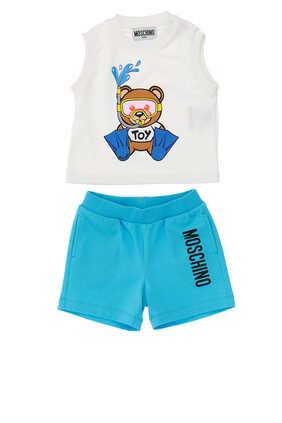 Teddy Bear T-Shirt Shorts Set