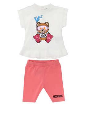 Teddy Bear T-Shirt And Leggings Set
