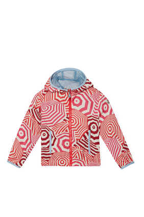 Umbrella Print Windbreaker Jacket
