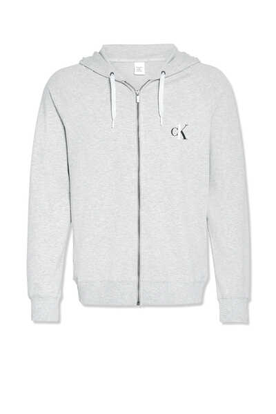 CK One Zip-Up Logo Hoodie