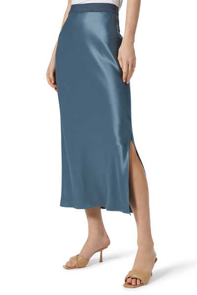 Satin Slip Maxi Skirt
